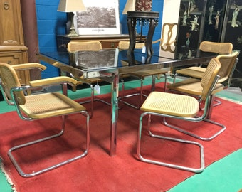 "Set of Six Marcel Breuer ""Cesca"" Chairs "" Made in Italy"