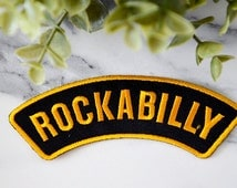 ROCKABILLY Girls Tattoo Iron on Patch Band Black Badge Thrash Patches Clothing Womens 50's Icon Class