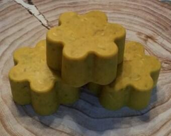 Turmeric Organic Whole Grains Flower Soap