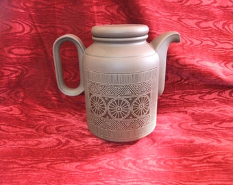 Stylish Vintage Hornsea Brown Palatine Coffee Pot 1976