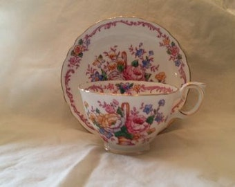 Vintage China Staffordshire  Fine Bone China Tea Cup and Saucer
