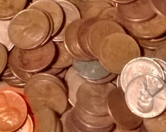 Lincoln Wheat pennies in Lots of 200 coins mixed dates Unsearched condition