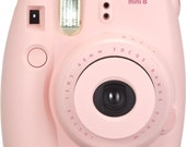 NEW Best Price! Fujifilm Instax Mini 8 Instant Camera with Batteries - Pink/Blue/Black/White/Yellow/Grape/Raspberry - FAST SHIPPING!!!