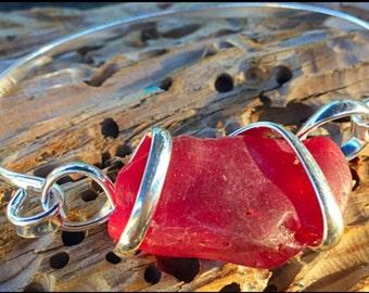 Red Sea glass Cuff