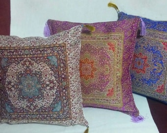 Pillow Case with Traditional Motifs, Decorative Pillow Cover, Turkish Motifs, Home Decorate, Handmade Fabric Pillow Case, Small Sofa Pillow