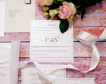Wedding Invitation wrap to bind all of your invitation suite