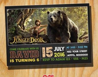 Jungel Book Movie Invitation, Jungel Book Invitation, Jungle Book Movie 2016, Jungle Book Invite, Jungle Book Party,Jungel Book Birthday 048