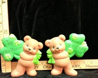 St. Patrick ceramic bisque bears