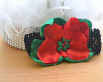 Christmas Poinsettia Headband