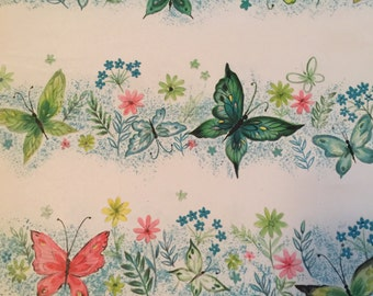Vintage Hallmark Butterfly Wrapping Paper - 6 sheets