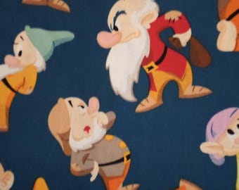 Disney Fabric/Dwarf Toss/Made for Springs Creations/ Cotton / 1 yard 25 inches