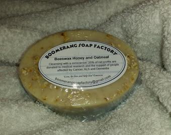 Beeswax Honey  and Oatmeal Soap 3.5 oz Bar