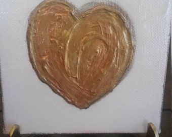 Heart on canvas