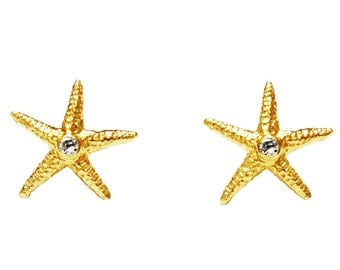 Gold Star Fish Earring