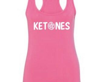 Ketones Racerback Tank Top, Pruvit Ketones Tank Top, Ketones PruvitTank Top