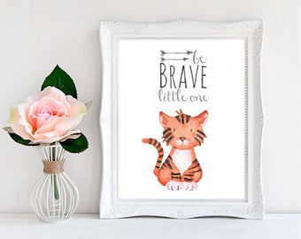 Be Brave Little One Print, Inspirational Quote, Be Brave Nursery, Be Brave Print, Bravery Printable, Tribal Arrows