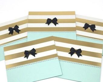 Elegant Shower Cards - Baby Shower Invites - Wedding Shower Cards - Thank You Cards - Thank You Card Set - Blank Note Cards