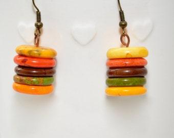 Earthy drop earrings (Isla)