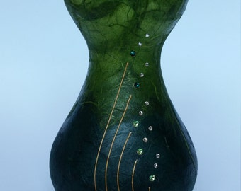 Hand Painted Bulb Vase