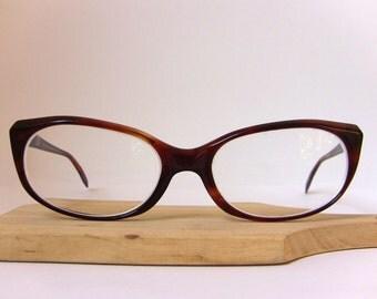 Rodenstock Cat Eye Glasses Coralle Maroon Color Oval Eyeglasses Medium Sized Frame Eyewear FREE SHIPPING Rx