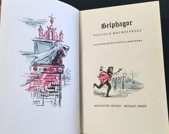 1954 Vintage Edition of Machiavelli's Belphagor, Miniature Illustrated Book