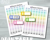 ON SALE Money Stickers - Finance Printable Stickers - PRINTABLE Jpg Perfect for your Erin Condren Planner or any other planner or notebook !