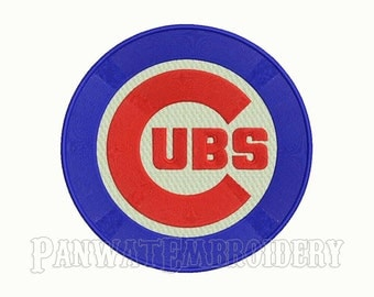 7 Size Chicago Cubs Logo Embroidery Designs, Machine Embroidery Designs, Baseball Embroidery Designs - INSTANT DOWNLOAD