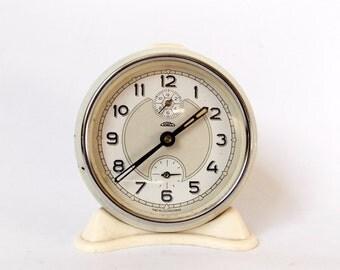 Rare 1960s Vintage Alarm clock PRIM Czechoslovakia Table Desk Clock Decor Watch