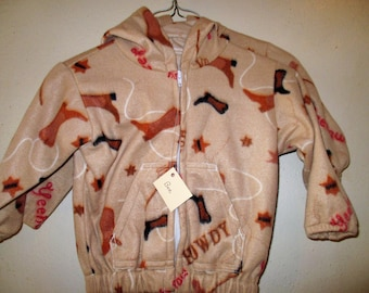 Size 2 Tan Yee Haw Fleece Jacket