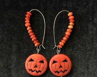 Pumpkin Seed Earrings