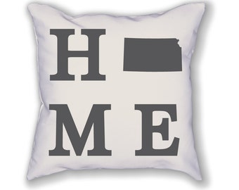 Kansas Home State Pillow