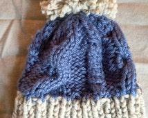 Smokey Mountain Cable Knit Beanie
