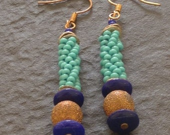 Tropical tube earrings