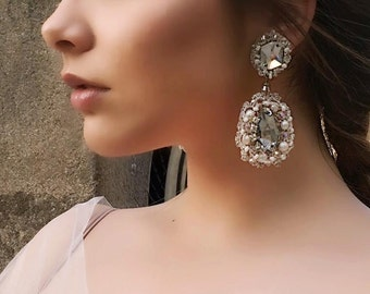 Hand crafted |Bridal Royal Swarovsky Earrings