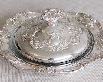 Towle Silver Plate Covered  Casserole with Glass Bowl Insert