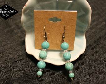 Beautiful, Handmade, Turquoise Earrings