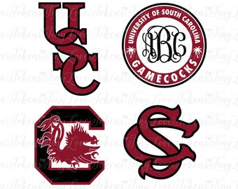 USC Gamecocks Design for Silhouette and other craft cutters (.svg/.dxf/.eps/.pdf)