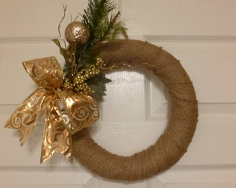 Wrapped Burlap Wreath