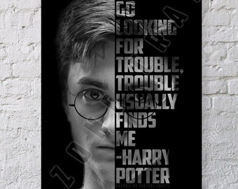 Harry Potter Typography Quote Poster