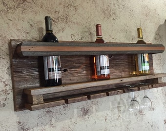 Reclaimed Barnwood Wine Rack