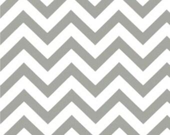 Premier Prints Cotton Twill Fabric, Grey Zig Zag Fabric, Storm Grey Chevron Fabric