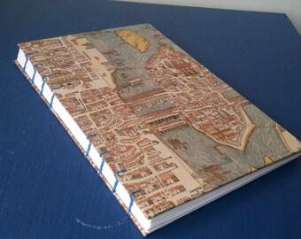 1550 Map of Paris - Coptic Stitch Journal