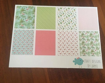 Flamingo and Pineapple Full Box Planner Stickers