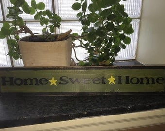 Home Sweet Home wooden sign with stars