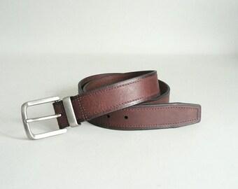 Mens Brown Leather Belt Size 36 Waist