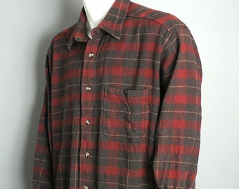 Mens plaid flannel shirt jacket size 2 extra large
