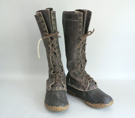 mens size 8 ll bean maine tall hunting duck boot. Black Bedroom Furniture Sets. Home Design Ideas