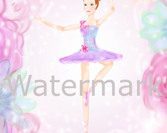 Ballerina Music Box print 11x14
