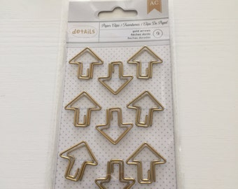 9 Golden Arrow Paperclips