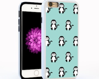 Cute Monkey Cell Phone Case in Blue for iPhone6 / 6plus, iPhone5, Galaxy s4, Galaxy s5, Note 4. Custom Disney Animal Cover